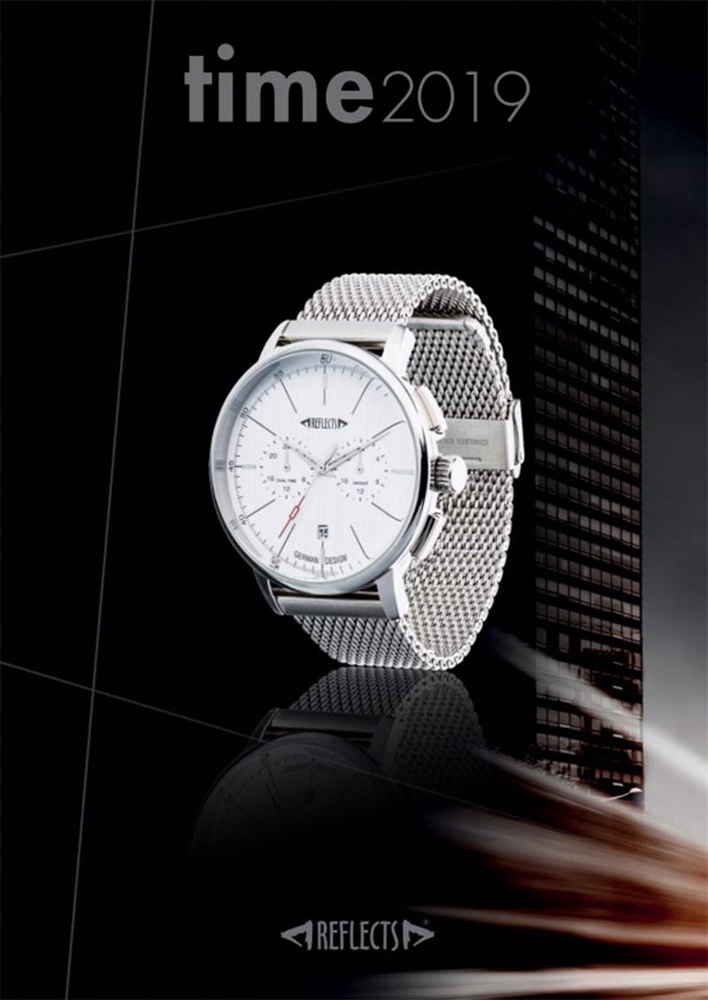 Katalog mit Armbanduhren