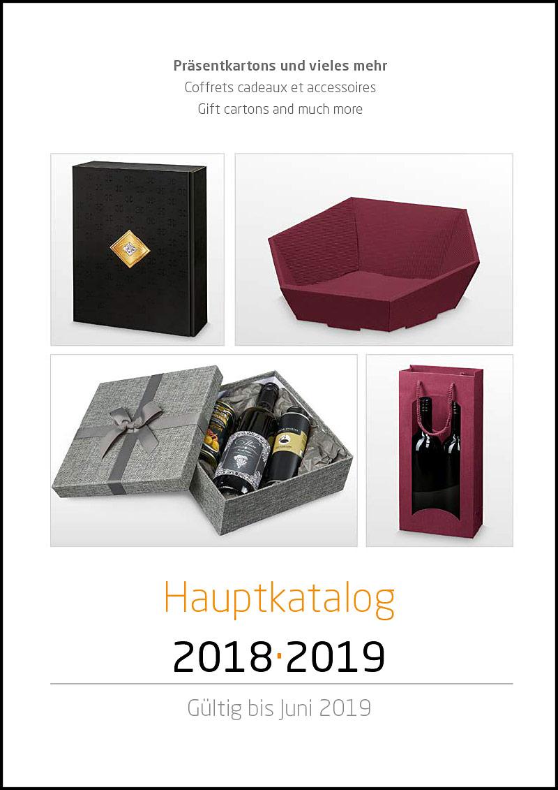 Verpackungen Katalog mit Tragetaschen Geschenkkartons, Papieren, Bändern uvm.